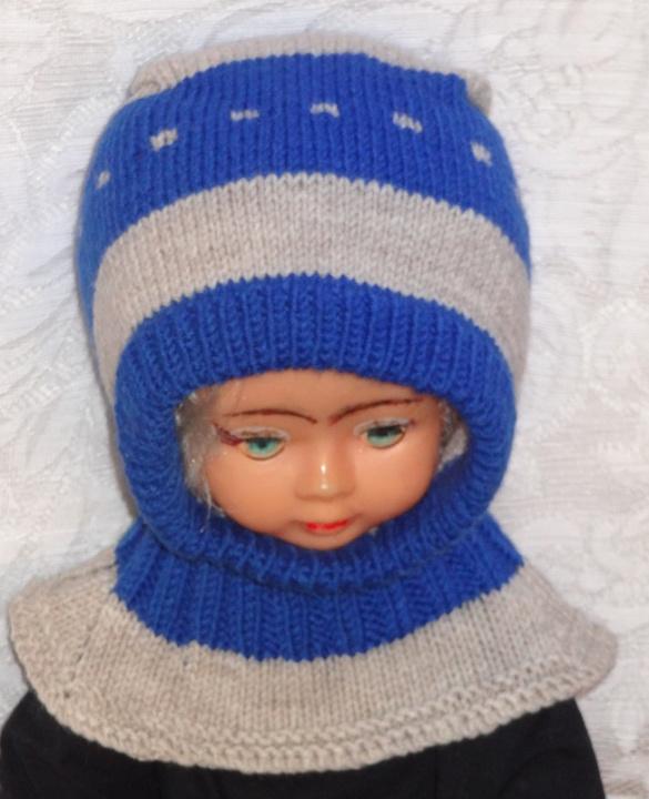 Kepurė šalmas Mėlyna pilka