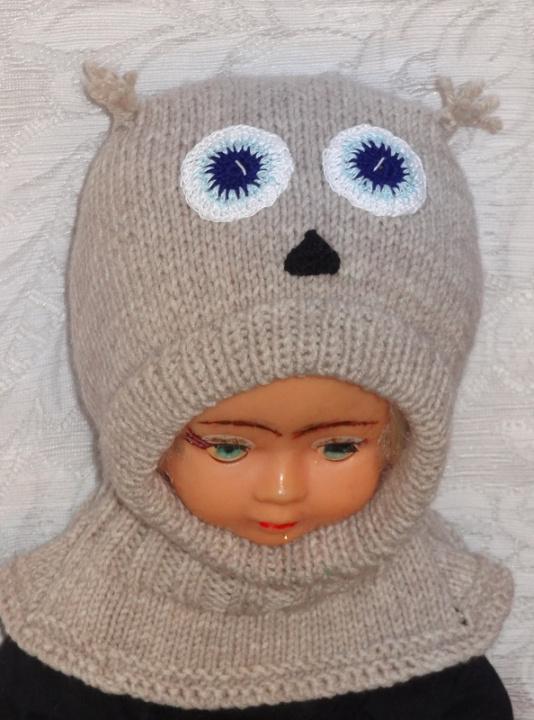 Kepurė šalmas Pilkas pelėdžiukas