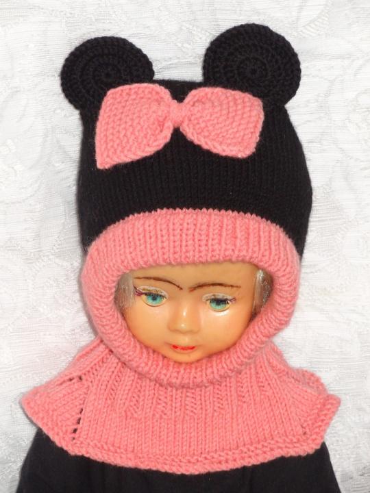 Kepurė šalmas Rožinė pelytė