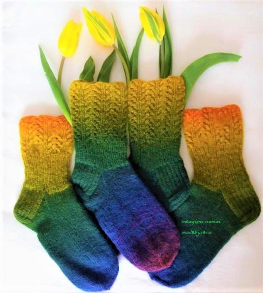 """kojinės spalvotos """"Pavasarėja"""""""