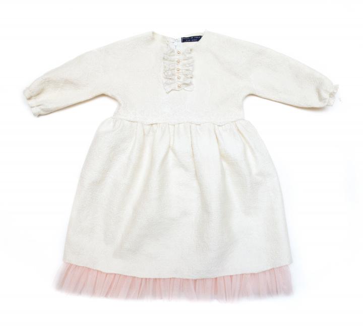 Krikšto suknelė su tiulio pasijoniu