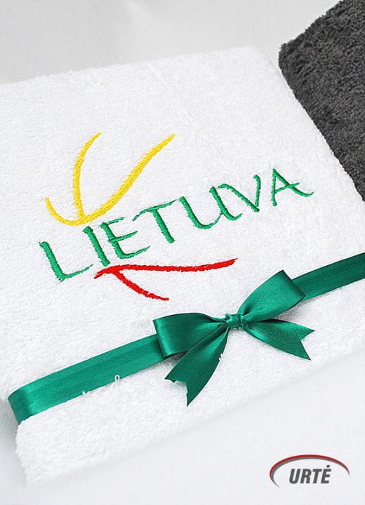 Lietuva - Krepšinio šalis! Siuvinėtas rankšluostis