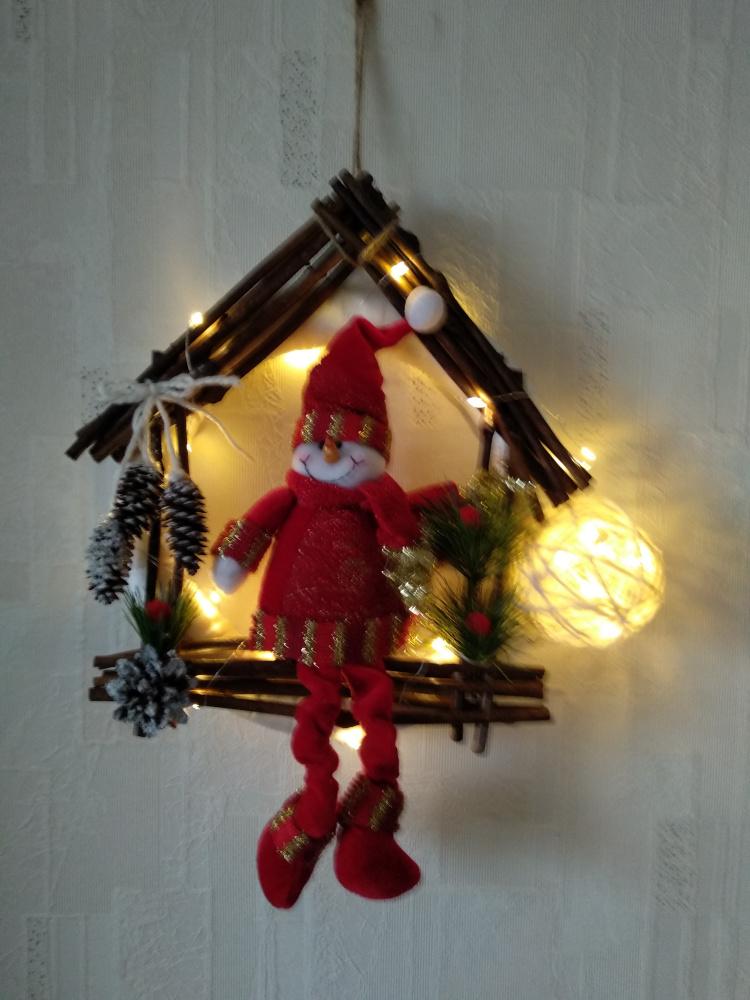 Linksma Kalėdinė dekoracija