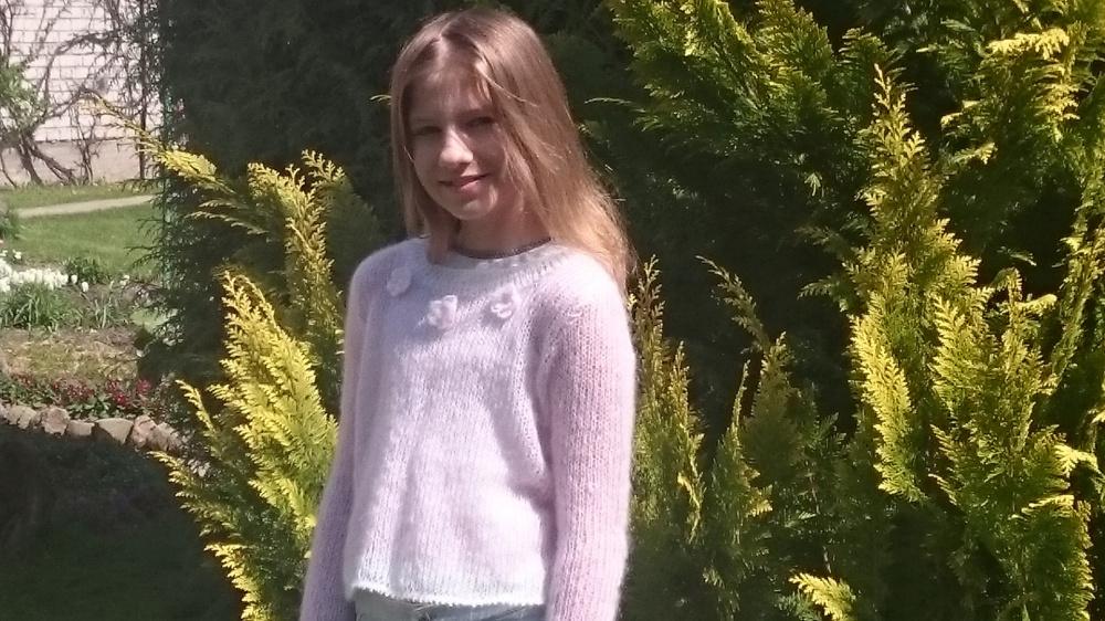 Madingas moherinis megztinukas