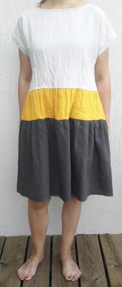 Marga lino suknelė