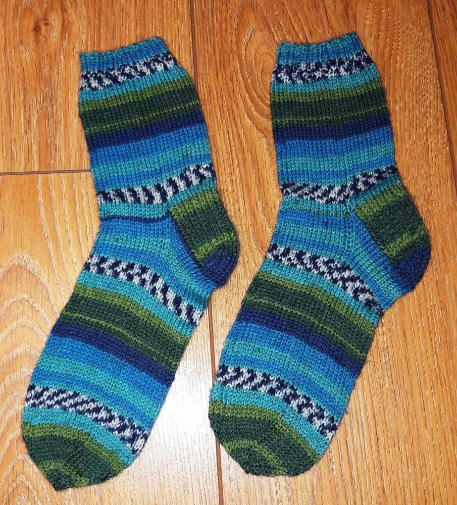 Margos kojinės žydros