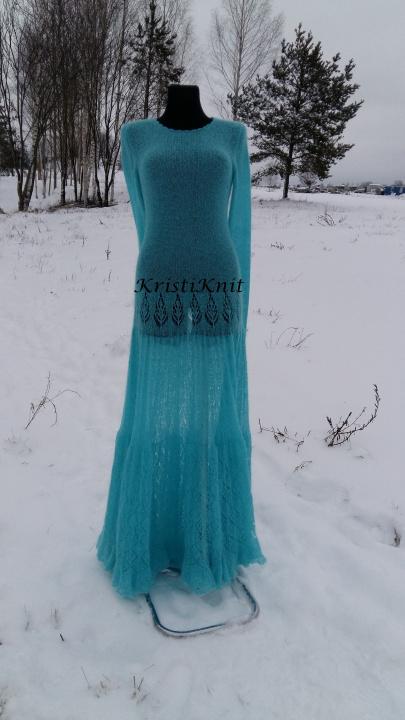 "megzta mocherinė suknelė ""Ledo karalienė''"