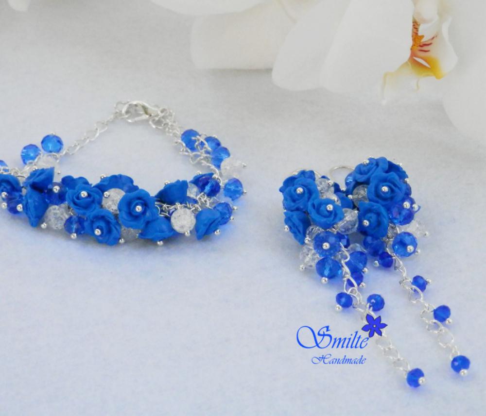 Mėlynas rožyčių komplektas