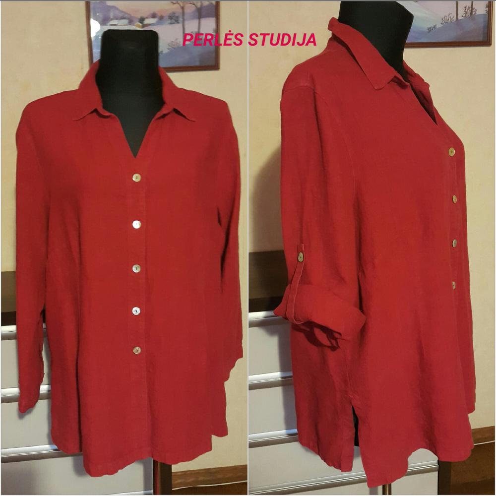 Minkštinto lino marškiniai