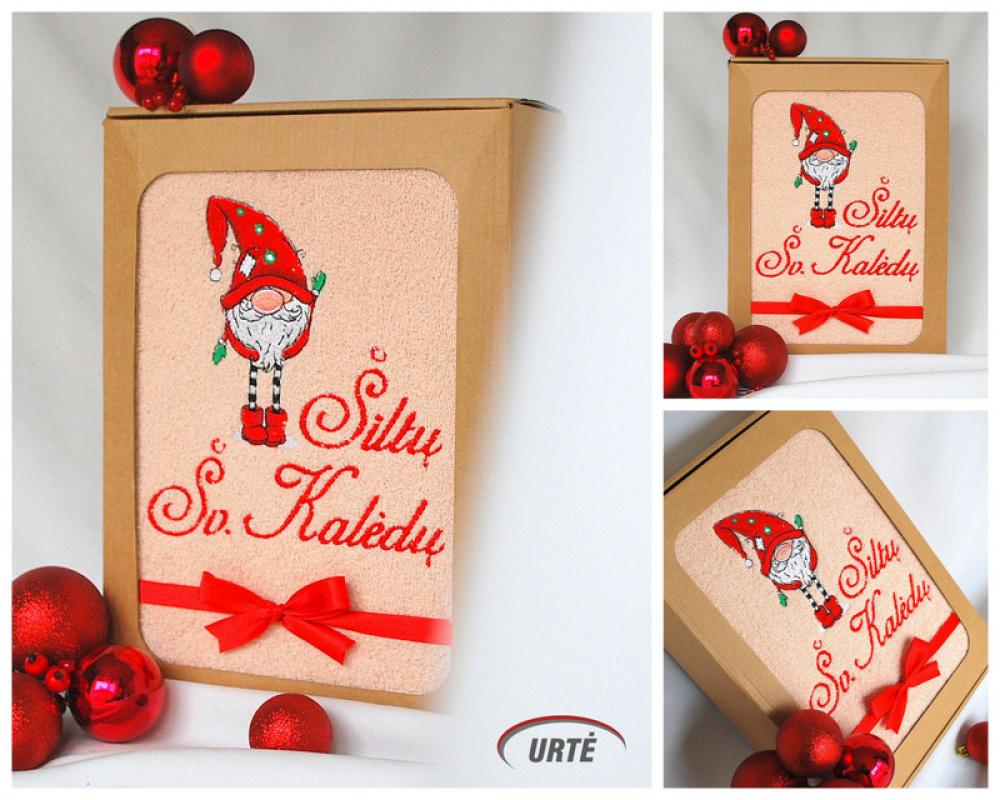 Nykštukas - Kalėdinių dovanėlių idėja - siuvinėtas rankšluostis