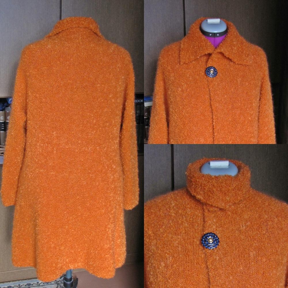 Oranžinis megztinis - paltukas