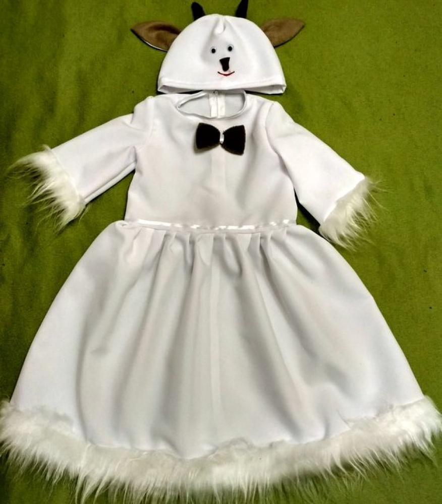 Ožkytės, ožkos karnavalinis kostiumas mergaitei 2