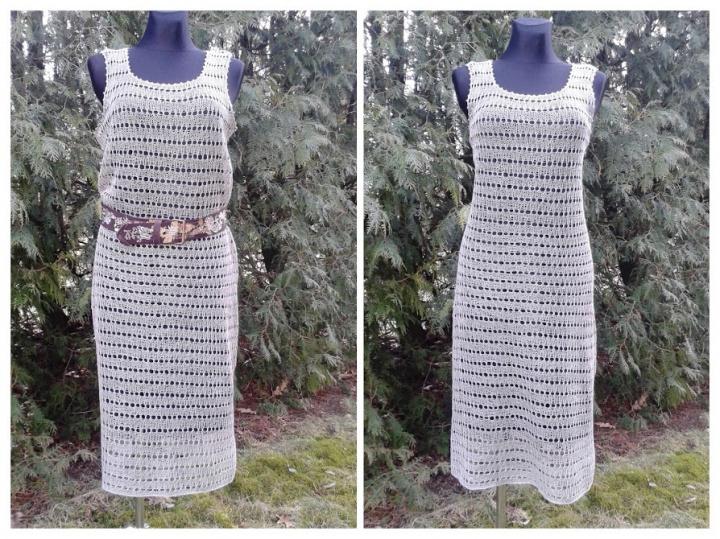 Paprasta lininė suknelė