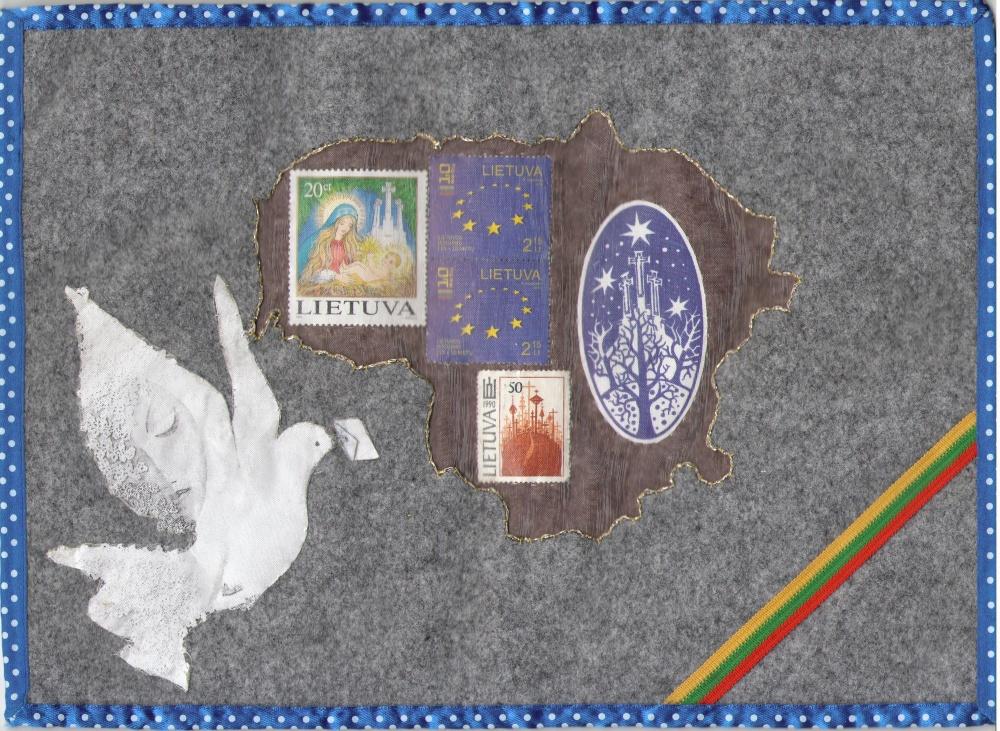 """Pašto ženklai """"Lietuva 10 metų ES"""""""