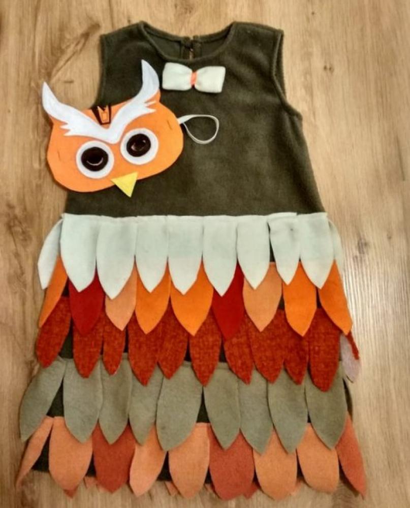Pelėdos, paukščio karnavalinis kostiumas mergaitei *