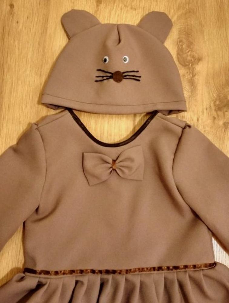 Pelytės, pelės karnavalinis kostiumas mergaitei 3