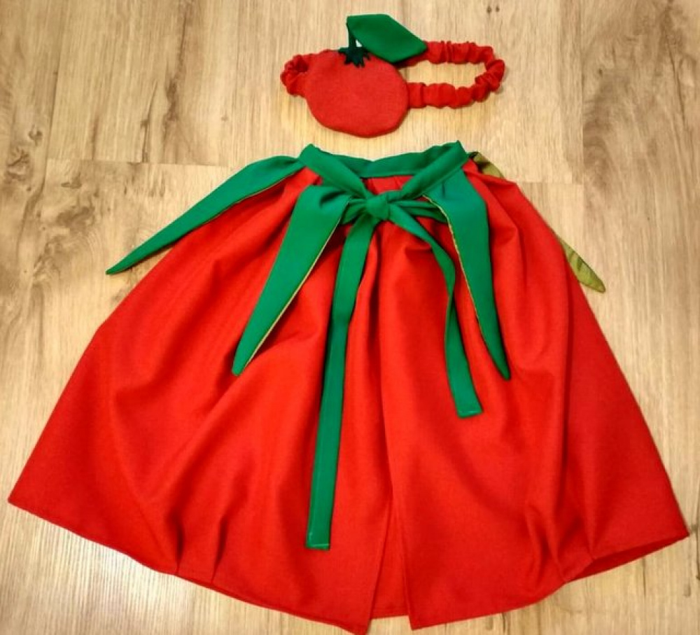 Pomidoro vaikiškas karnavalinis kostiumas