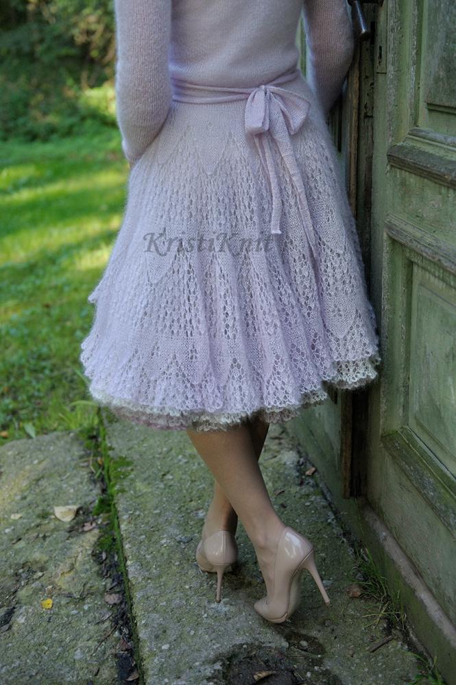 Rankų darbo moherinė suknelė