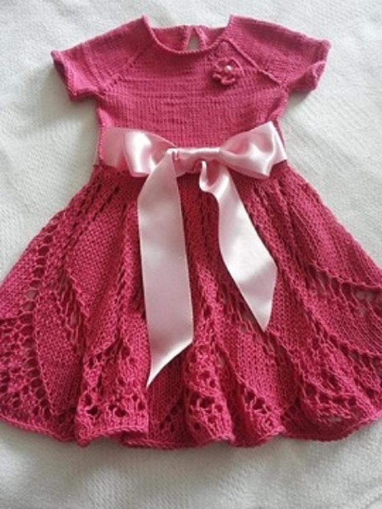Rožinė megzta suknutė