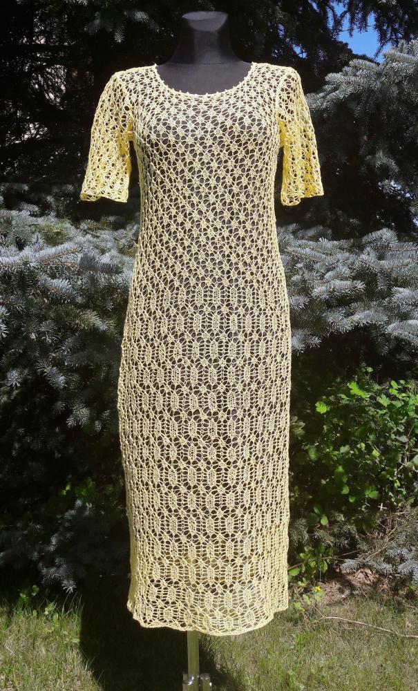 Saulėta lininė suknelė