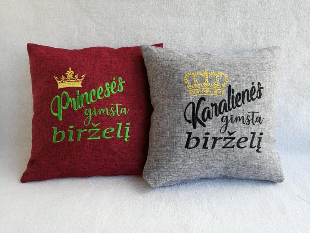 siuvinėtos pagalvėlės gimtadieniui