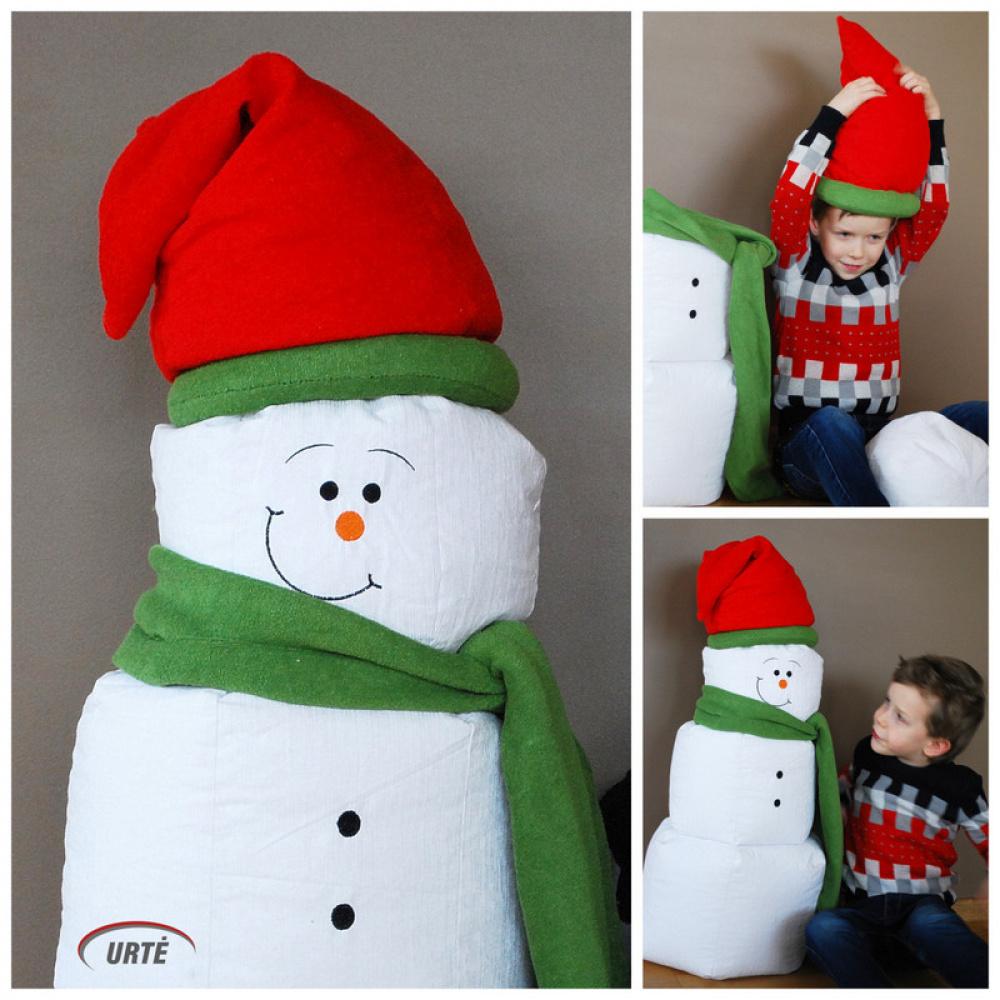 Sniego senis - nykštukas - žaislas - dekoracija