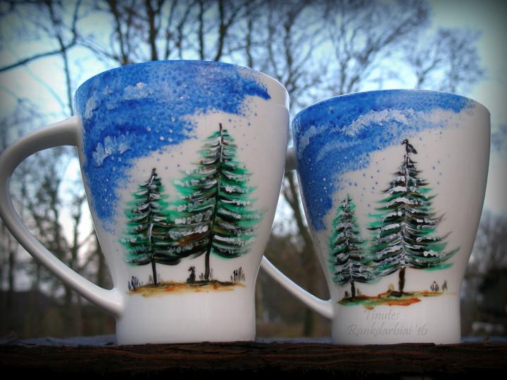 spalvoti puodeliai :)