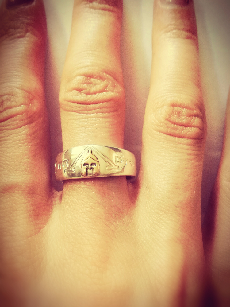 Sparta. Leonido šalmo žiedas