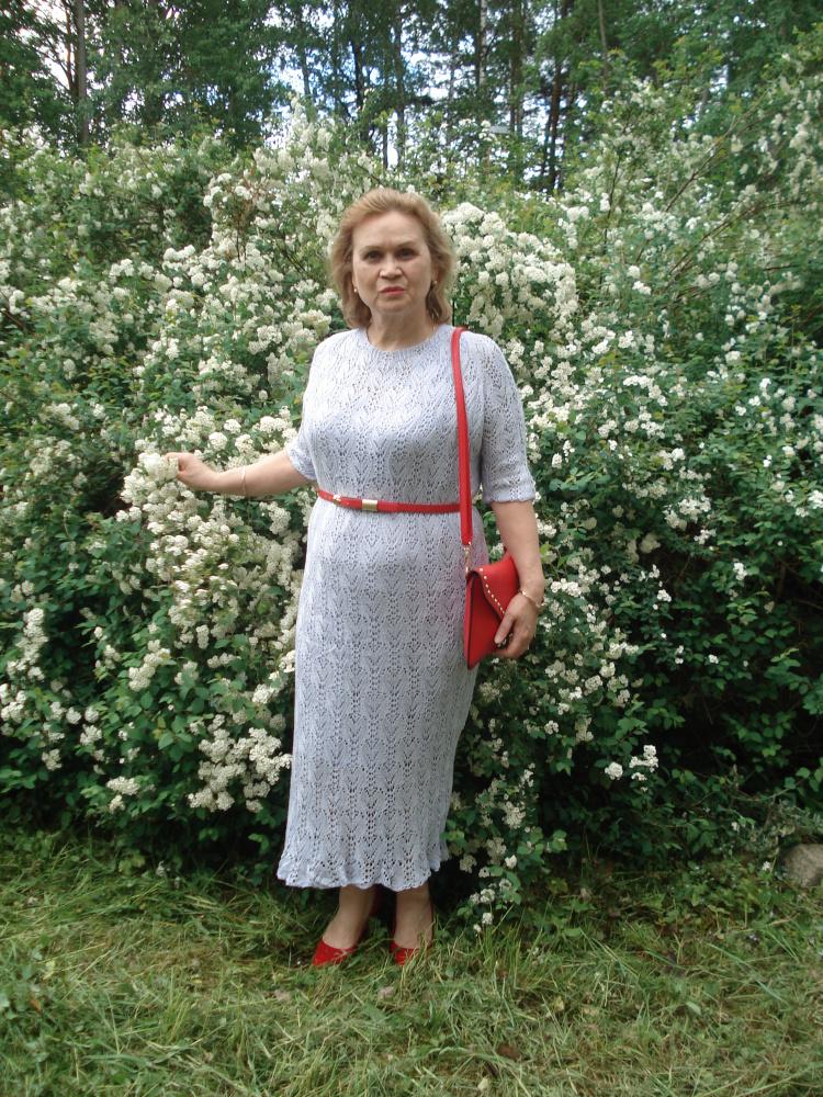 """Suknelė megzta virbalais """"Pirma vasaros diena"""""""