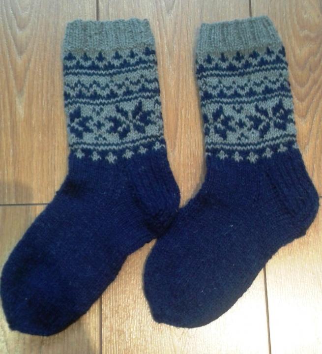 Tamsiai mėlynos kojinės