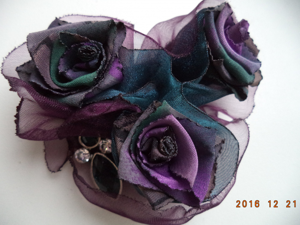 Tekstilinė sagė Gėlės