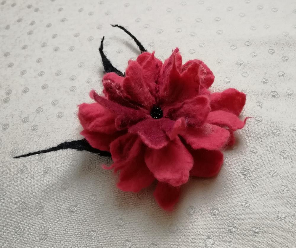 Velta gėlė avietės ružava