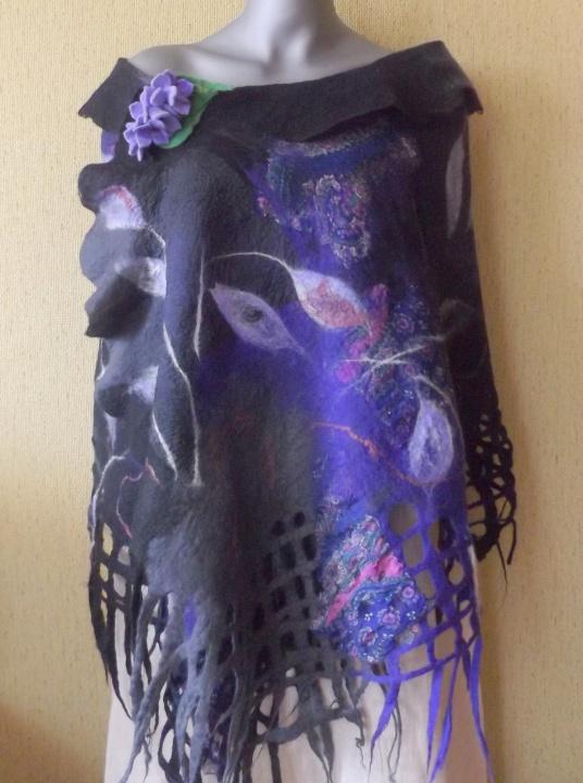 velta skraistė violetinė-pilka-juoda