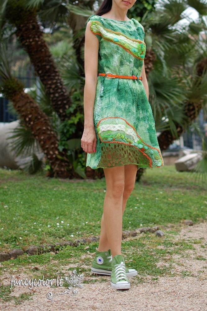 "Velta suknelė ""Žali kerai"""