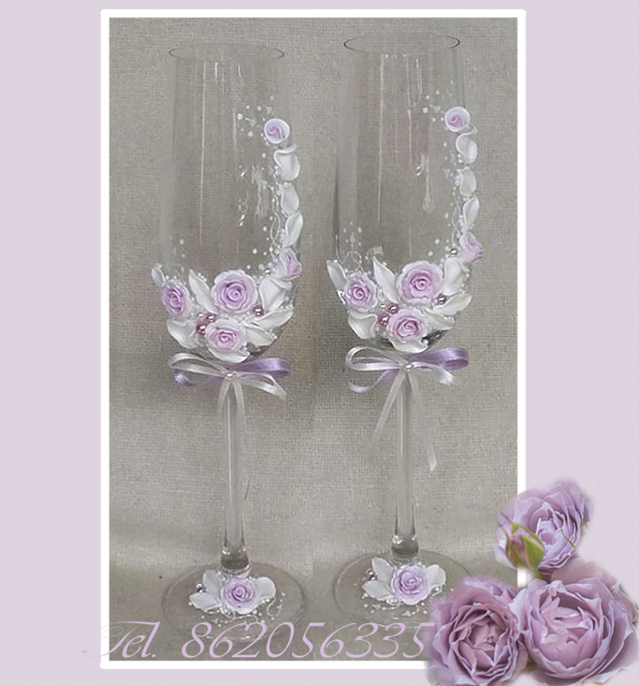 Vestuvines dekoruotos taures jauniesiems