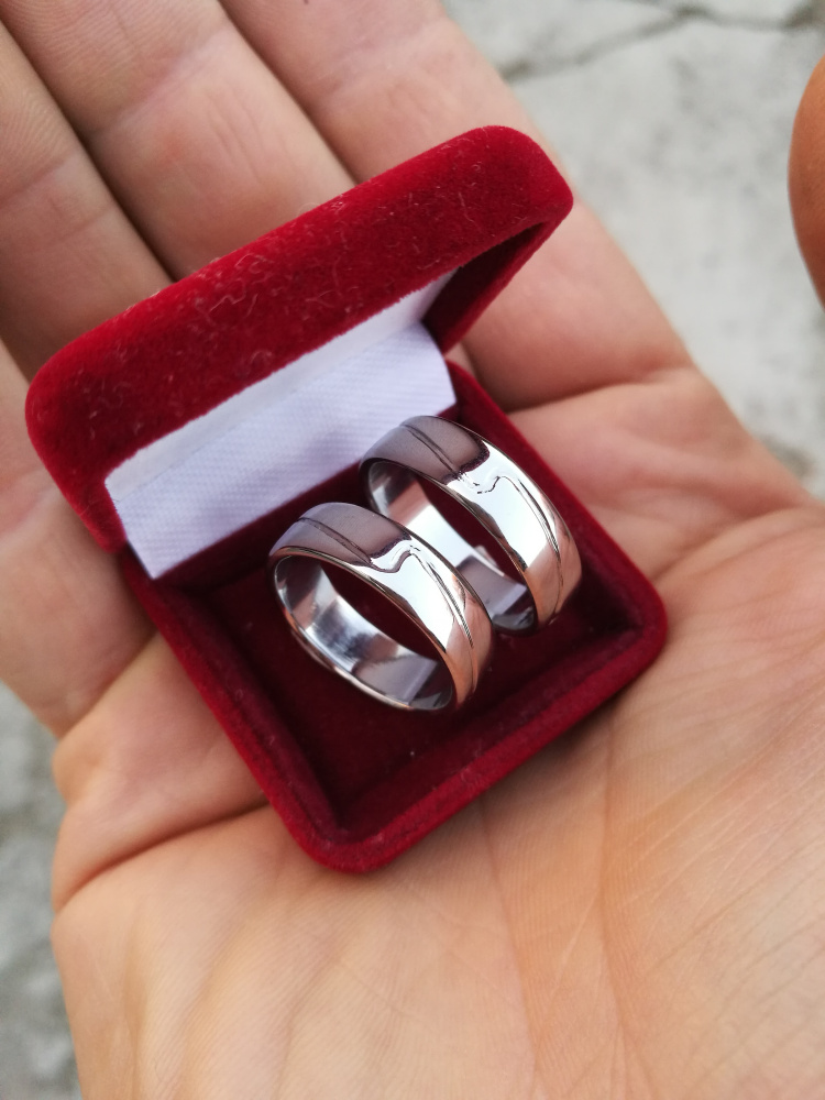 Vestuviniai žiedai, nerūdijančio plieno