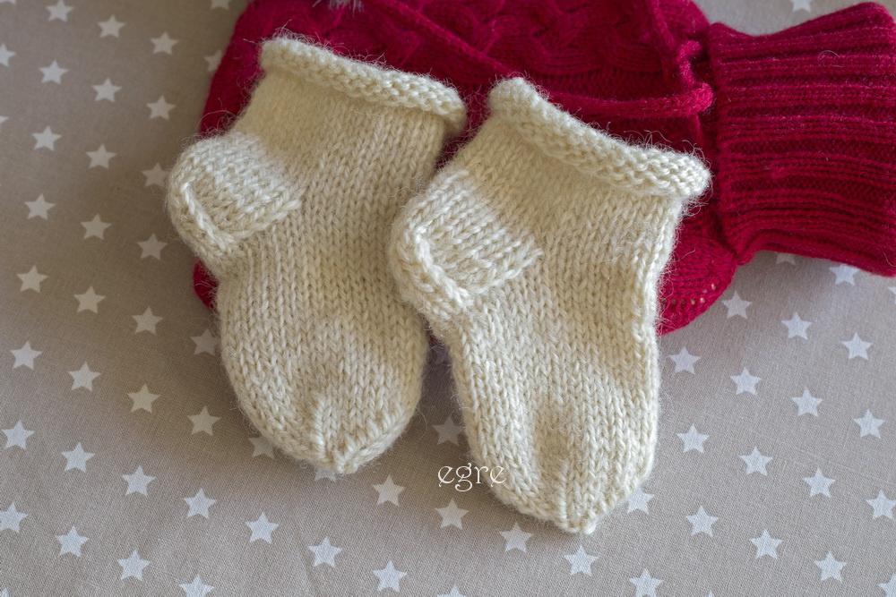 Vilnonės kojinės naujagimiui