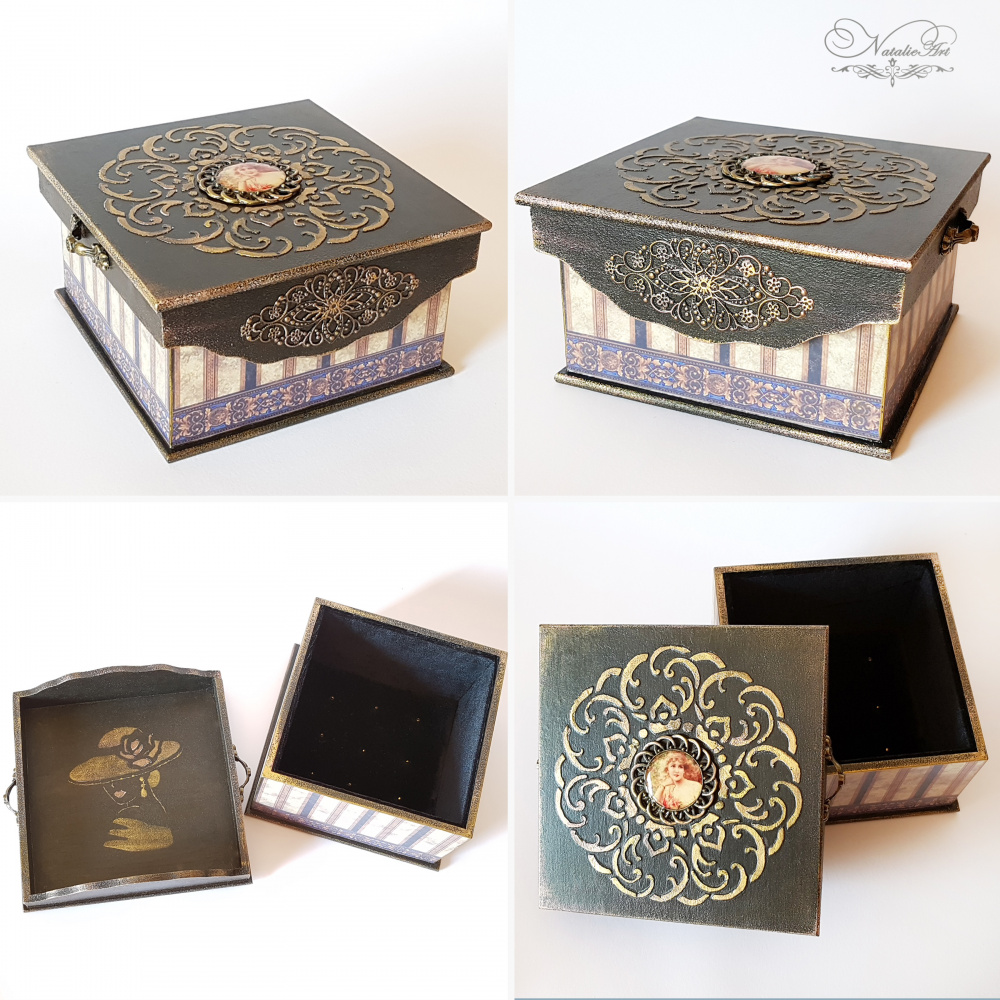 Vintažinė papuošalų dėžutė