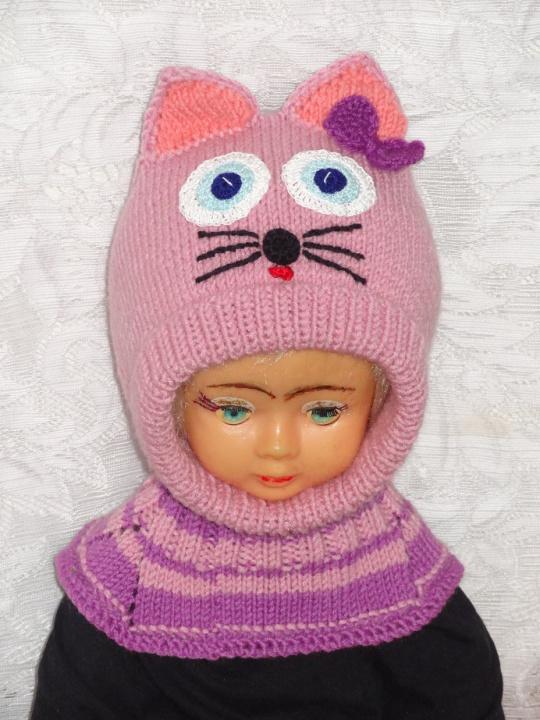 Violetinė kepurė šalmas