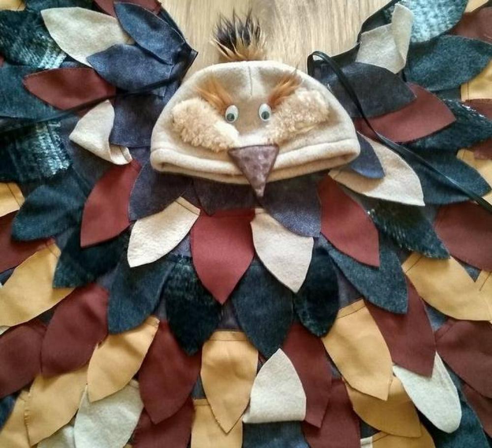 Vyturio, pauščio karnavalinis kostiumas