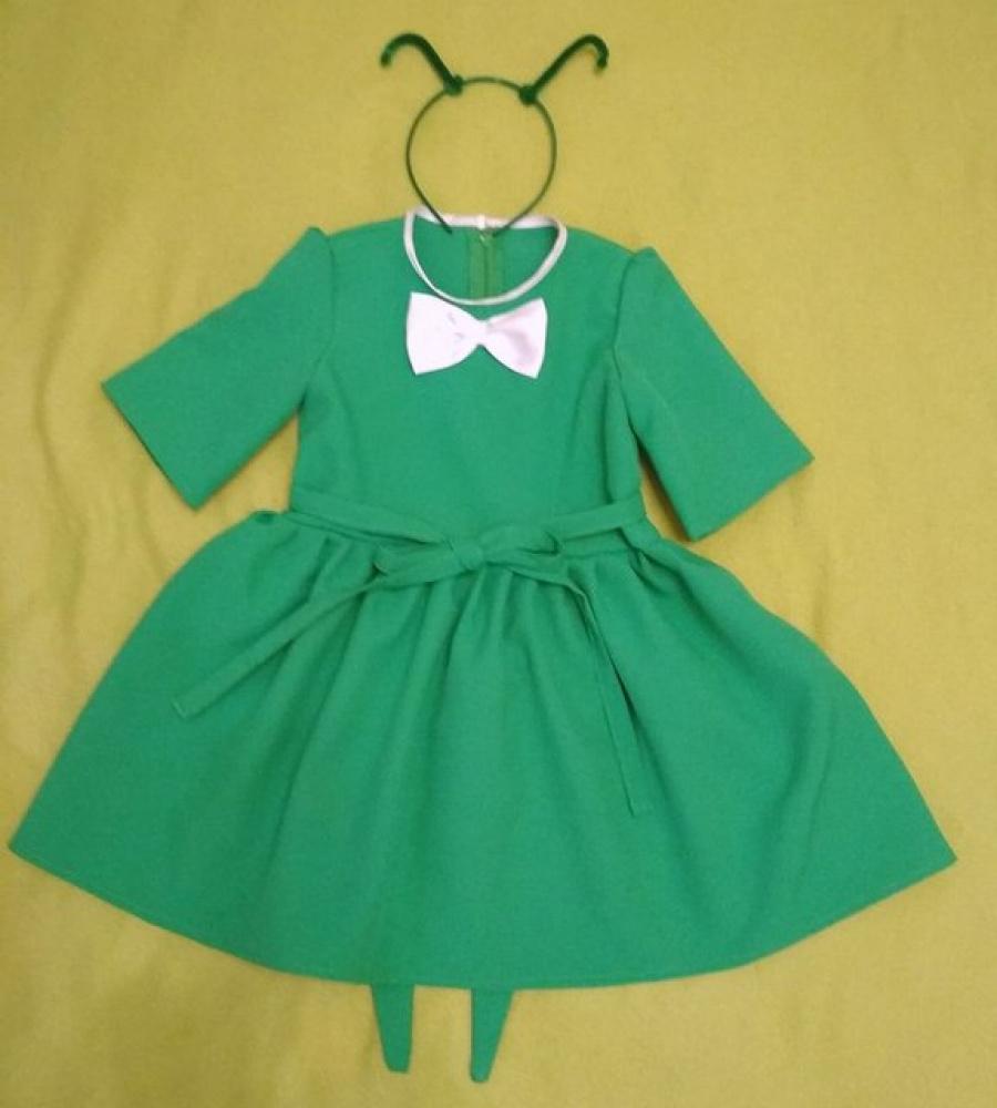 Žiogo karnavalinis kostiumas mergaitei 2