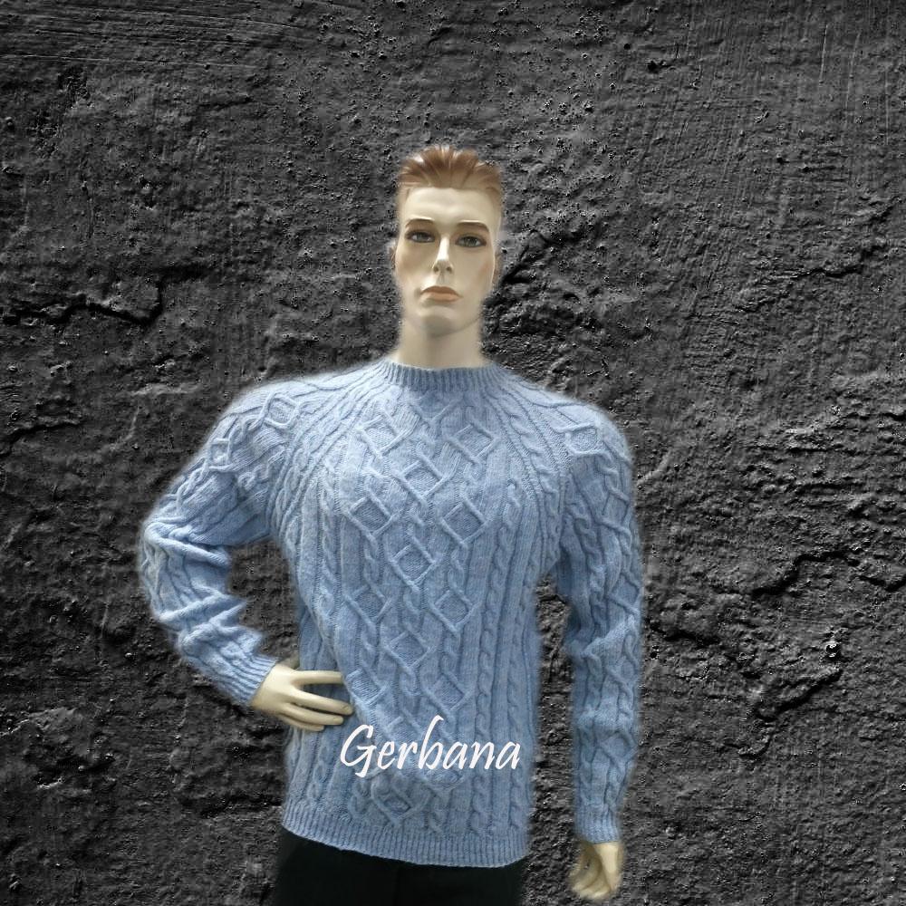 Žydrai pilkas megztinis
