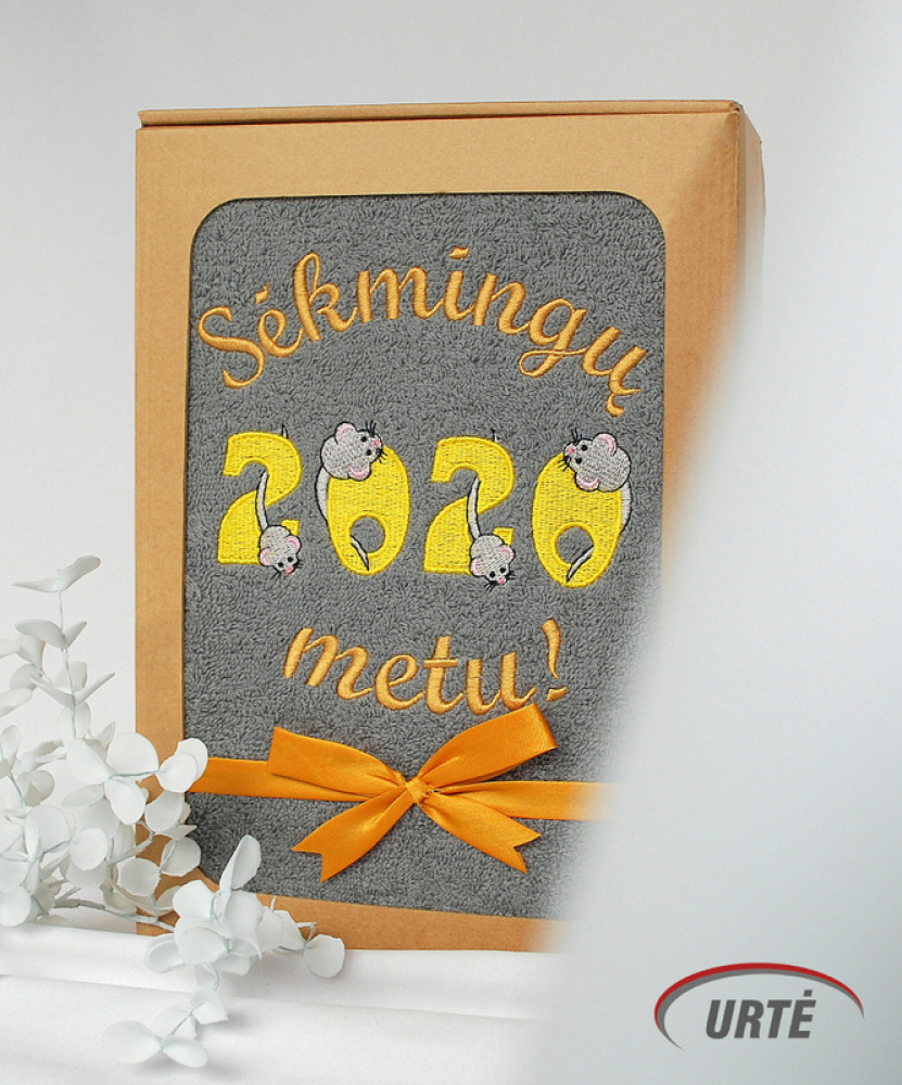 2020 Pelės metai - Siuvinėti rankšluosčiai