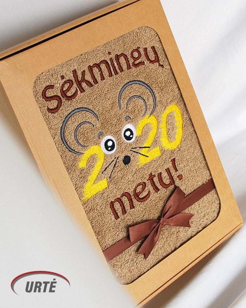 2020 Žiurkės metai - Siuvinėti rankšluosčiai