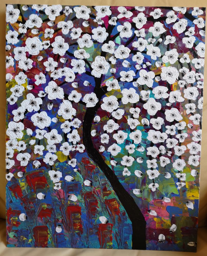 Abstraktas- Žydintis medis