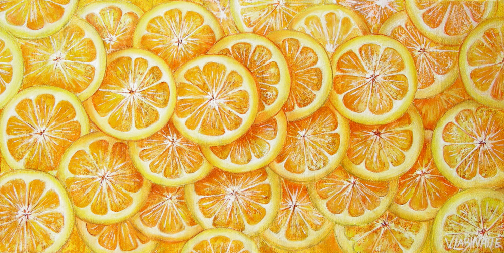 Apelsinai 50x25, al.drobė
