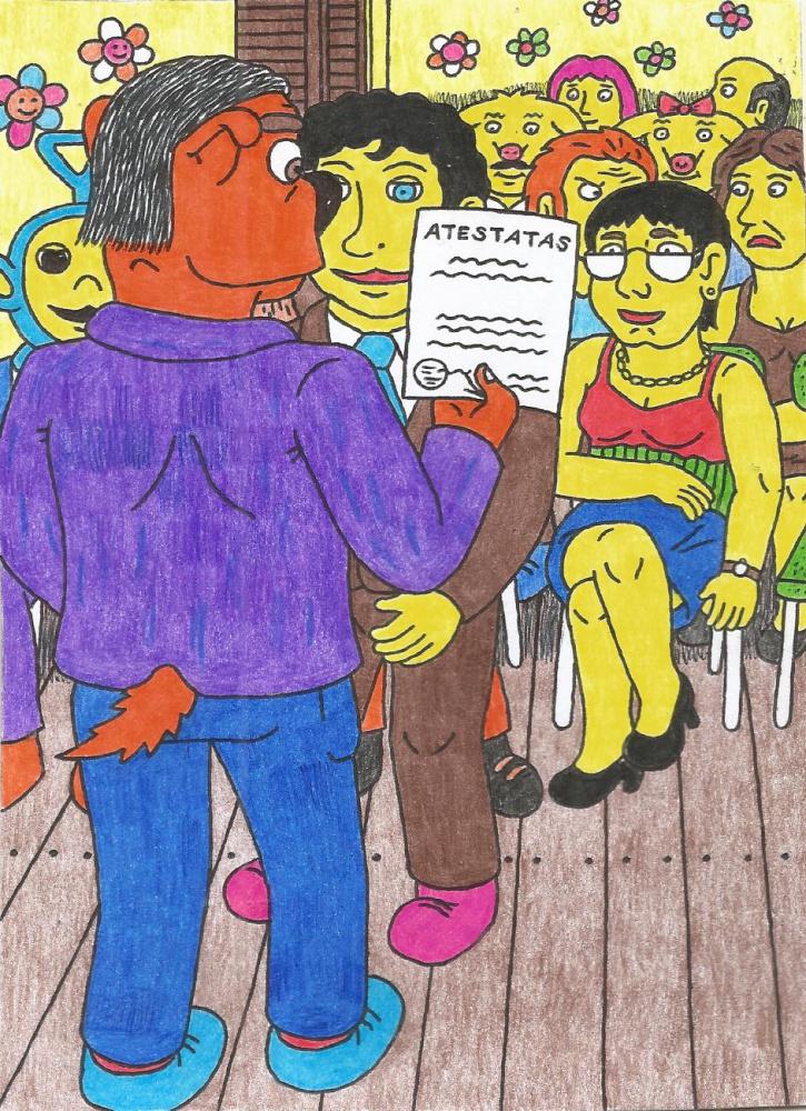 Dešimtokų Išleistuvės Kėžių kaimo mokykloje - atestatų įteikimas