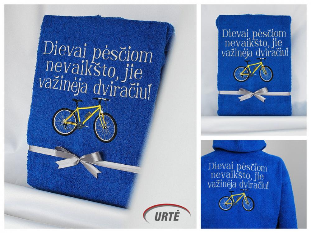 Dovana dviratininkui - siuvinėtas chalatas