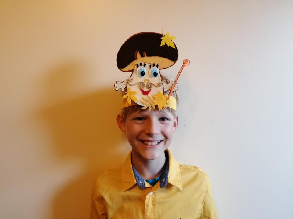 Grybų karaliaus Baravyko kaukė - karūna