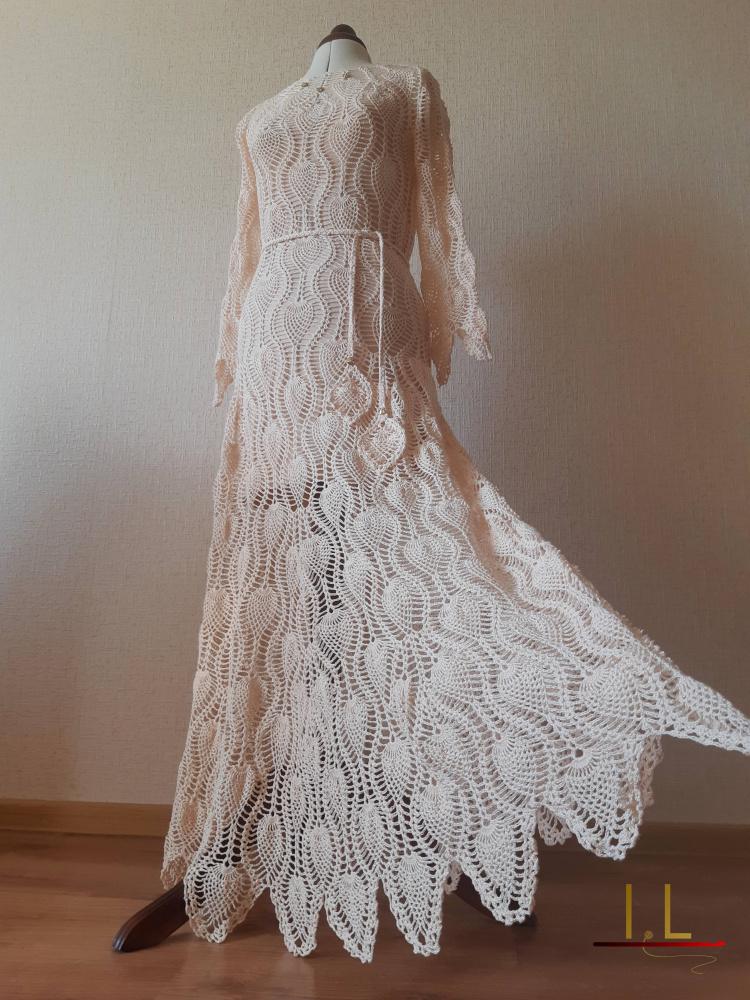 """Ilga suknelė """"Kreminė gulbė"""""""